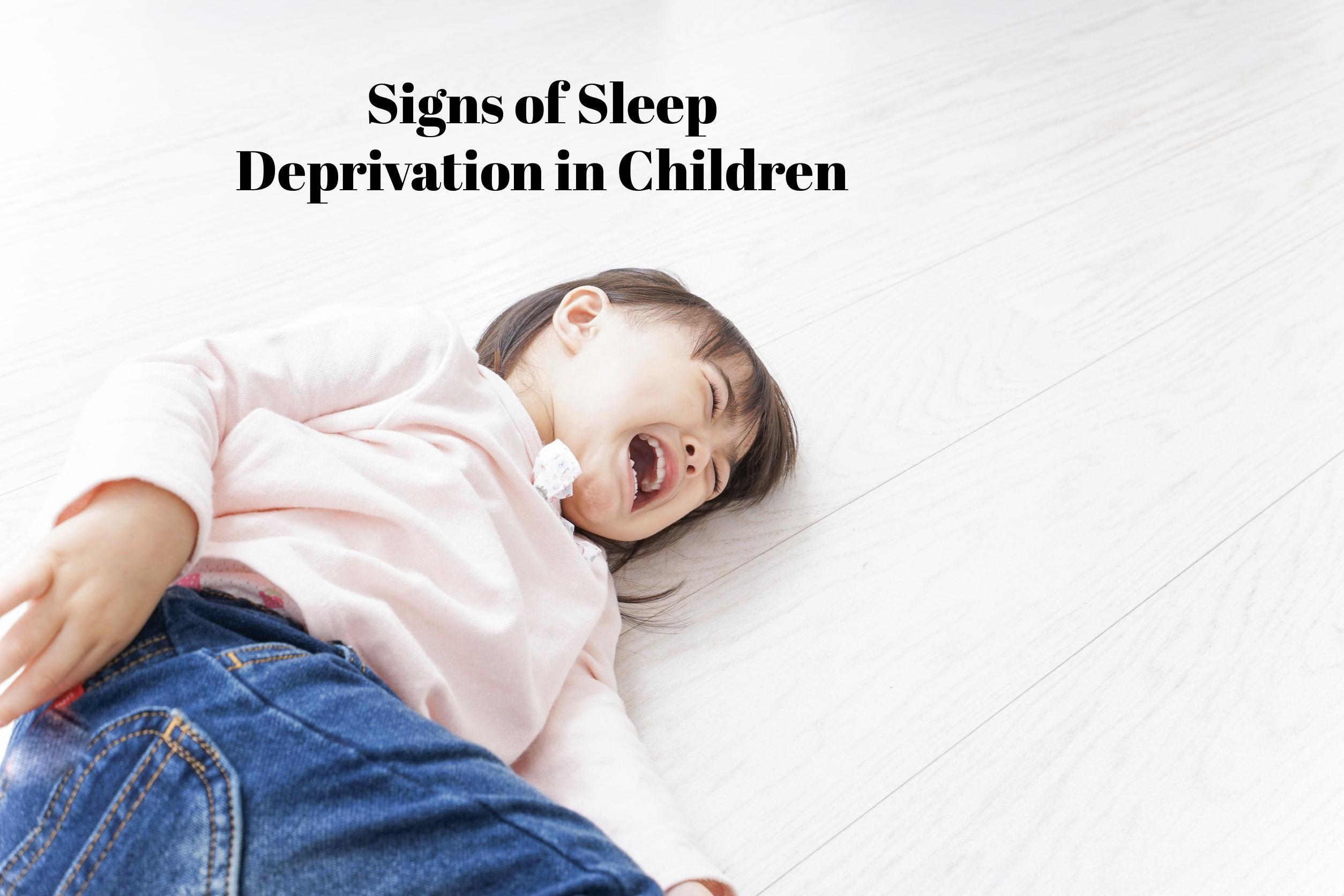 sleep deprivation in children