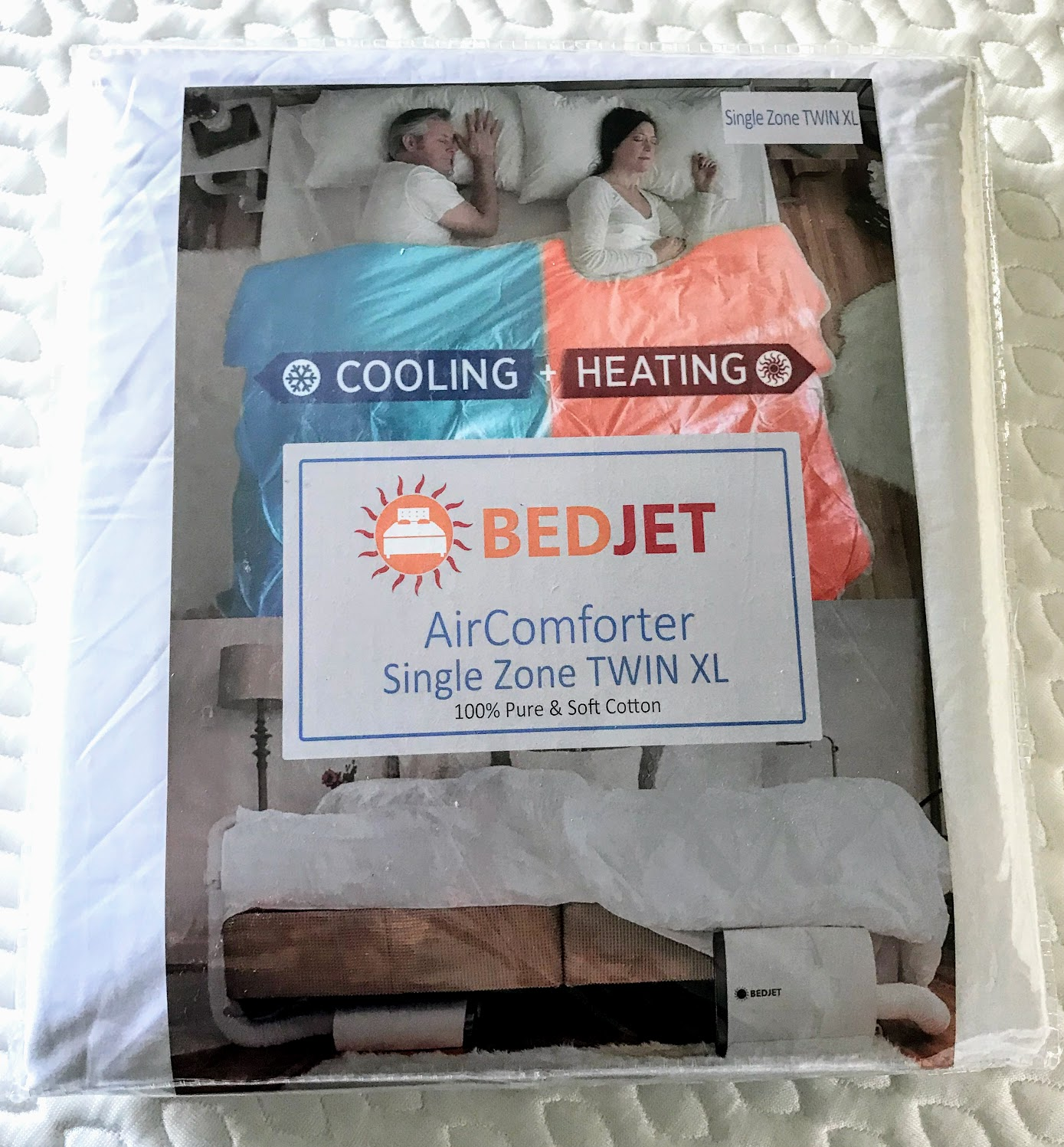 bed cooler using a bed fan and special sheet